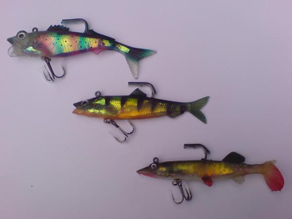 freshwater pack - preditors - 6 soft bait lures - soft bait, Soft Baits